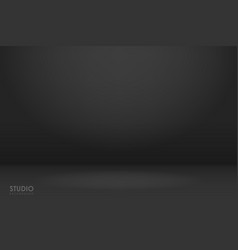 empty black studio room used as background vector image