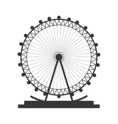 Ferris wheel icon vector