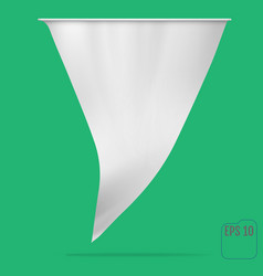 flag or pennant mockup vector image