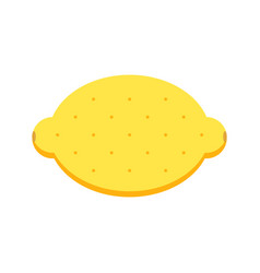 flat design lemon isolated on white background vector image
