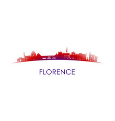 florence italy skyline silhouette design city vector image
