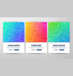 furniture flyer concepts vector image