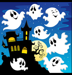 Ghost theme image 2 vector