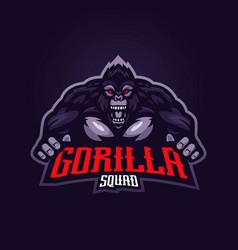 Gorilla esport logo vector