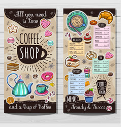 Hand drawn menu vector