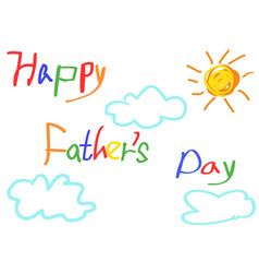 happy fathers day card for fathers day design vector image