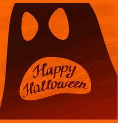 Happy halloween lettering banner desig vector