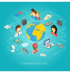 Internet Concept Isometric vector