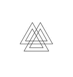 Interwoven triangles valknut sacred geometry vector