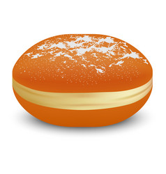 jewish bakery icon realistic style vector image