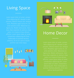 living space home decor set vector image