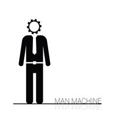 Man machine icon vector