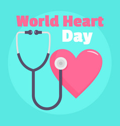 medical world heart day background flat style vector image