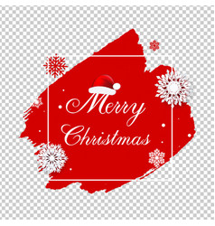 merry christmas poster with blobs isolated vector image