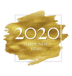 New year poster with golden blot vector