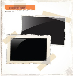 Old photo frames vector