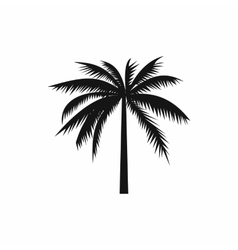 One palm tree icon simple style vector