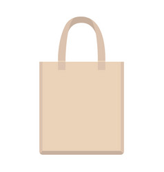 paper bag flat style front vector image
