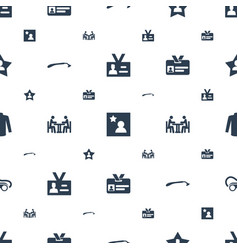 Personal icons pattern seamless white background vector