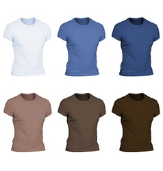 Plain t-shirt template vector image