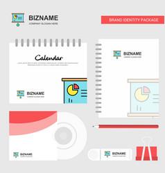 presentation chart logo calendar template cd vector image