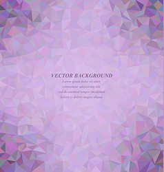 Purple colorful triangle mosaic background design vector image
