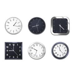 realistic clocks wall clock modern clockface vector image