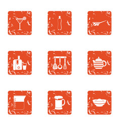 repast icons set grunge style vector image