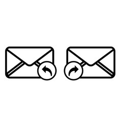 Reply or forward message flat icon for apps vector