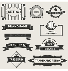 Retro vintage logotypes vector