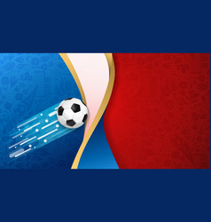 Russian soccer ball flag color background vector