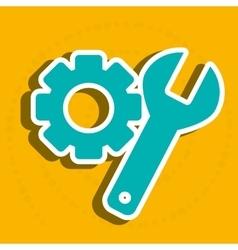 settings icon design vector image