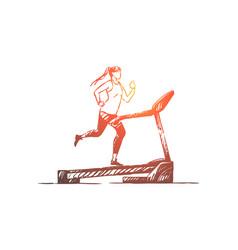 sportswoman on running track vector image