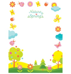 Spring Season Icons Frame vector