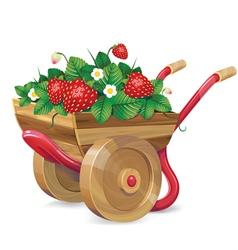 Strawberry barrow vector