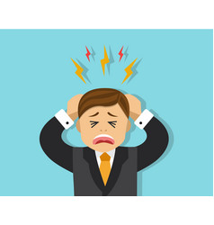 stressful situation for employee vector image