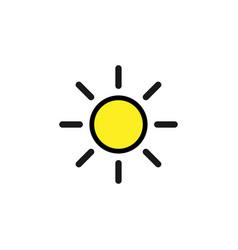 sun icon graphic design template vector image
