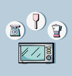 Technology machines to used in the kitchen vector