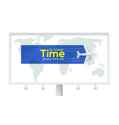 time to travel air transport between countries vector image