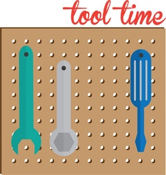 Tool Time vector image