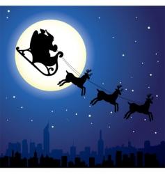 urban Christmas vector image