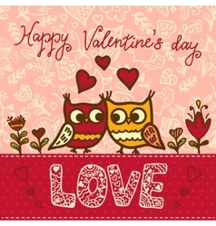 valentines greeting card vector image