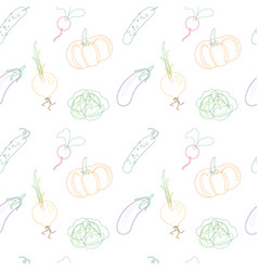 vegetables set on a white background vector image