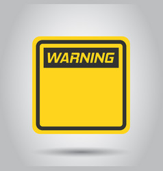 Warning caution sign icon in flat style danger vector