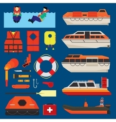 Water survival equipment vector image
