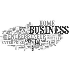 what does it take to set up an entrepreneur home vector image