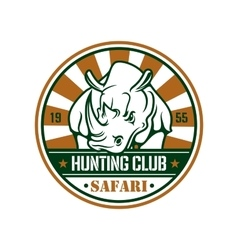 Wild hunting sport sign vector image