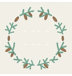 Winter background design with stylized fir vector image vector image