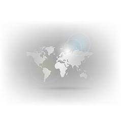 world map gray vector image