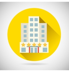 World Trip Symbol Best Star Hotel Inn Rest Icon on vector